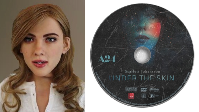 The Scarlett Johannson robot and the A24 Films DVD that's hoping for a break.