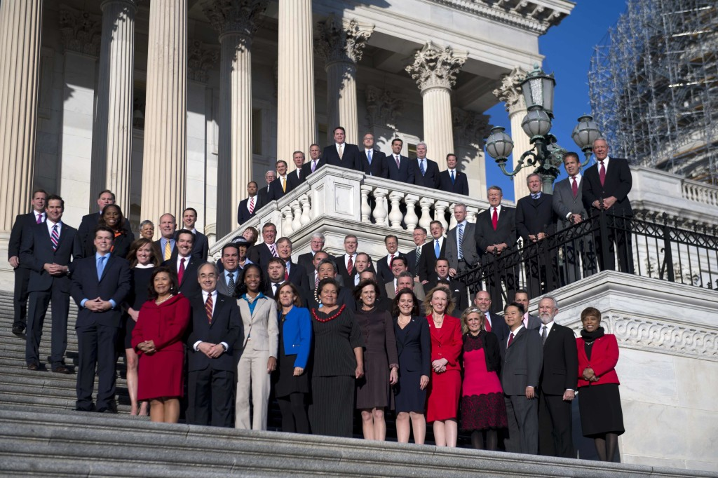 Freshman class of the 114th Congress with nary a beard among them.